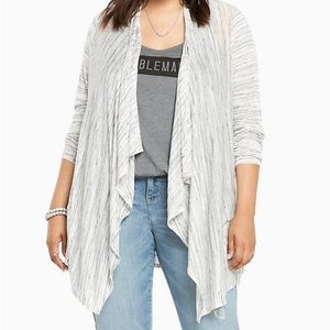 Torrid space dye draped cardigan plus size 3X